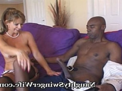 Naughty Wifey Shocked By His Size | black cock   blonde   blowjob   doggy   huge cocks   interracial   lingerie   milf   mommy   naughty girls