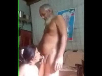 Paki oldman with maid | maid  old man