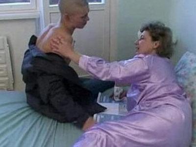 bald young guy fucks his granny | gilf  young