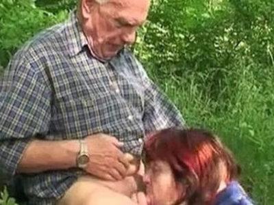 Granny Fucking | gilf  outdoor