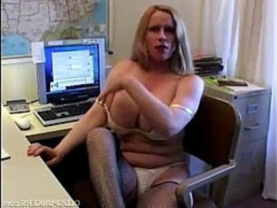 Busty cougar in fishnet stockings | amateur  busty  cougars  milf  old and young  solo  stockings  tits  wife